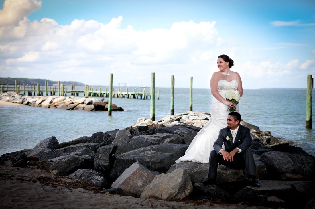 Yorktown Beach Wedding