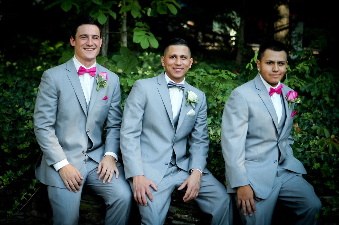groomsmen at sunday park